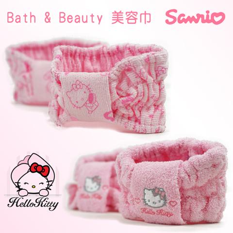 【esoxshop】日本Sanrio Hello Kitty Bath&Beauty 美容巾│正版授權《擦頭巾/乾髮巾/包髮帽/包頭帽/凱蒂貓》
