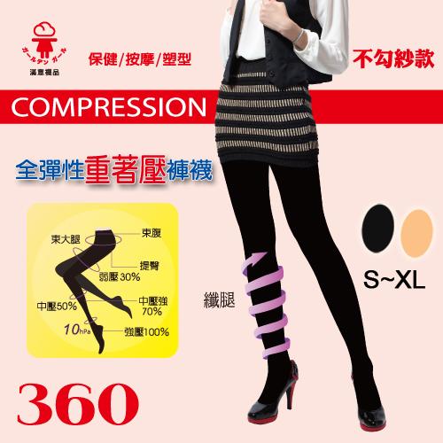 【esoxshop】壓力襪 纖腿 360全彈性褲襪 塑腿襪 束腹提臀 台灣製 金滿意