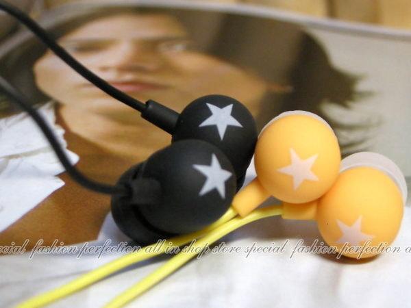 韓版 小星星 耳塞式內耳防噪耳機 內耳耳機 耳塞式耳機 OPP袋裝【DD245】◎123便利屋◎