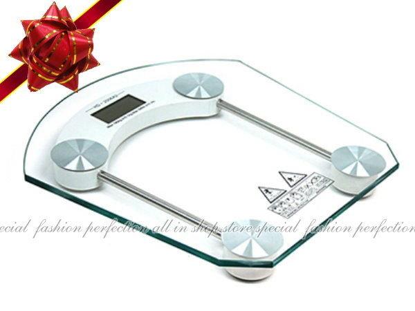 強化玻璃平台方形/圓形電子體重計(8mm加厚款)體重控制/減肥健身/送電池3顆【GL102】◎123便利屋◎
