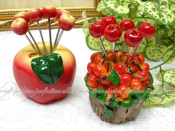 超可愛的造型水果叉 『蘋果 APPLE』造型叉子 結婚小禮品禮物【DI450D】◎123便利屋◎