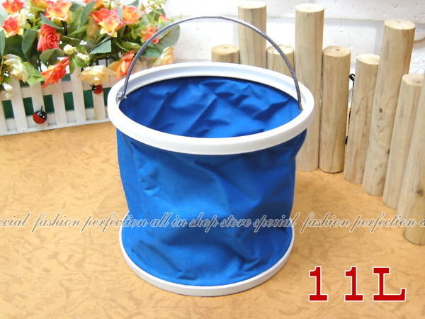 摺疊水桶 收納式水桶/水箱/ 置物桶 折疊水桶『大號11公升』 11L【GL425】◎123便利屋◎