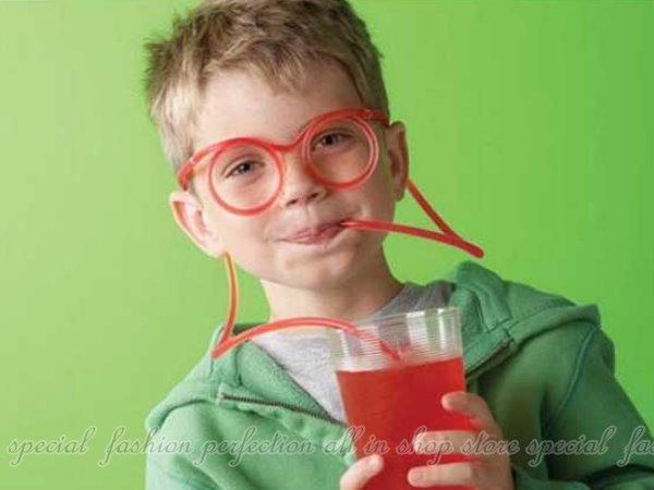 搞怪眼鏡吸管 KUSO彎來彎去DIY趣味眼鏡吸管 創意可彎吸管【DI326】◎123便利屋◎