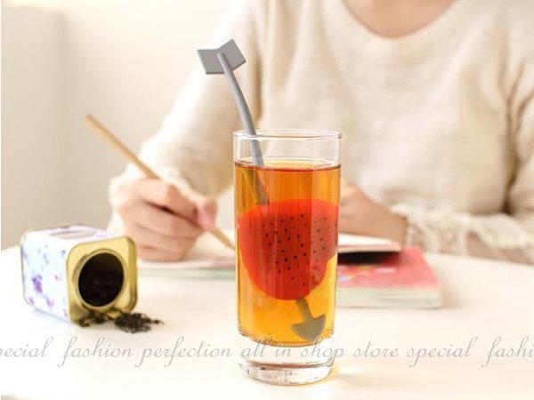 愛心茶匙泡茶器 心型茶葉過濾器 攪拌棒 泡茶器 茶匙~【DI328】◎123便利屋◎