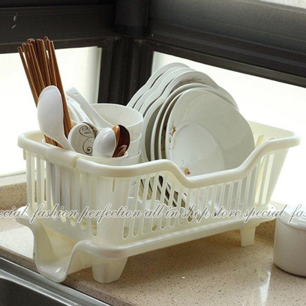 直式妙用滴水碗盤架『筷子架可外掛』 碗盤滴水架 碗筷餐具架【GN450】◎123便利屋◎