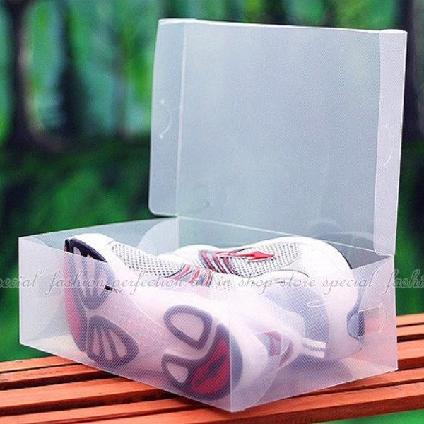 翻開式鞋盒-男款 男鞋適用/透明鞋盒/收納鞋盒/收納盒【DP130】◎123便利屋◎