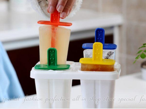 創意自製冰棒盒 冰格冰盒 帶蓋冰棍 冰淇淋 冰棒盒 雪糕棒 製冰模具【GF405】◎123便利屋◎