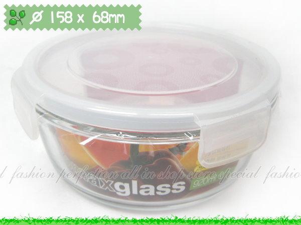 韓國KOMAX 長春藤強化玻璃保鮮盒670ML圓形款微波保鮮【GJ282】◎123便利屋◎