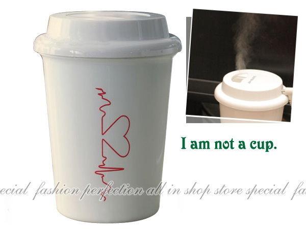 咖啡杯造型USB加濕器 杯子造型 水氧機 水噹噹 不做乾妹妹【DY425】◎123便利屋◎