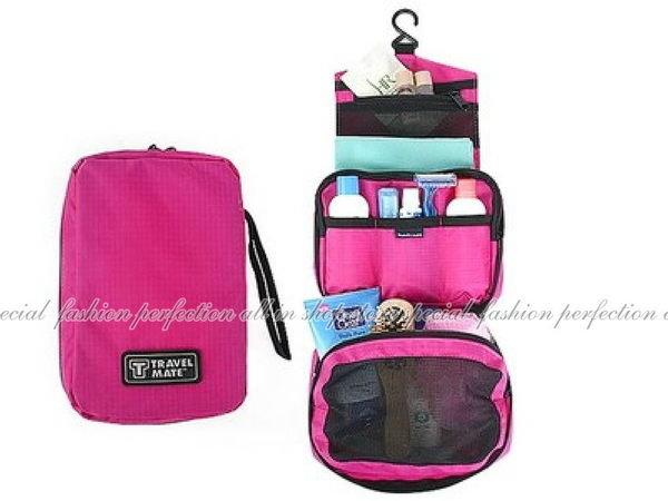 韓國熱銷Travel mate彩色旅行化妝品收納袋 攜帶式可摺疊盥洗包 化妝包【DG365】◎123便利屋◎