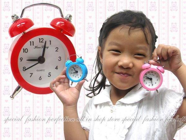 旅行用小鬧鐘HL6635 可愛時鐘 彩色小時鍾 指針鬧鐘【DJ282】◎123便利屋◎