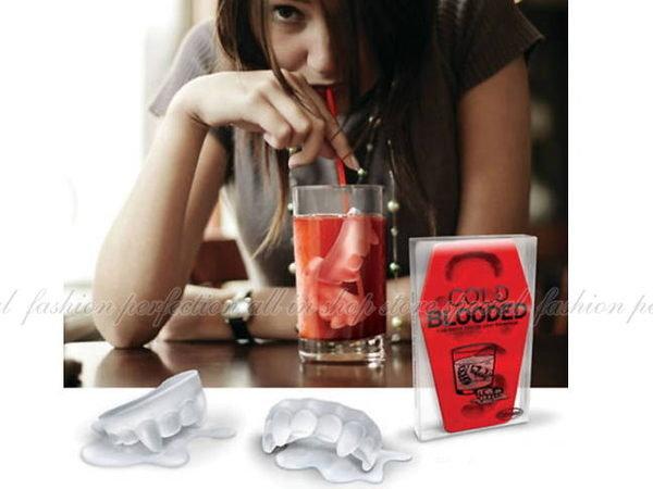 暮光之城/愛上吸血鬼牙齒製冰盒5格製冰格/果凍模型【DO215】◎123便利屋◎