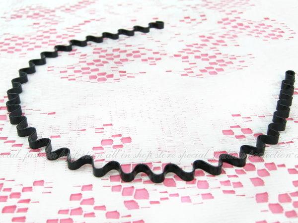 時尚波浪髮箍(細版/質感黑) 髮飾髮圈日韓歐美時尚最愛【DP292】◎123便利屋◎