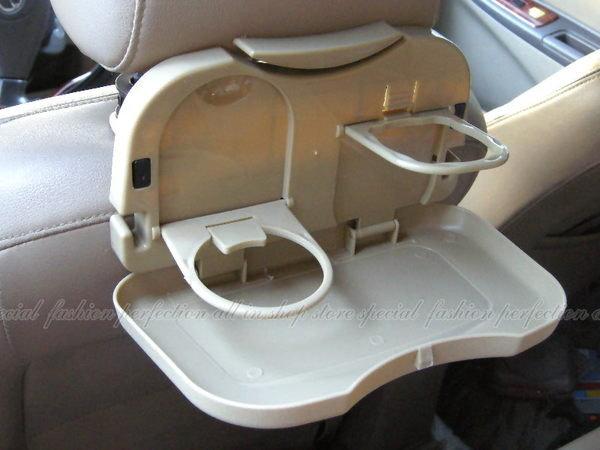 汽車可折疊飲料架 車用椅背飲料架 餐桌架 汽車餐臺掛架【GT310】◎123便利屋◎