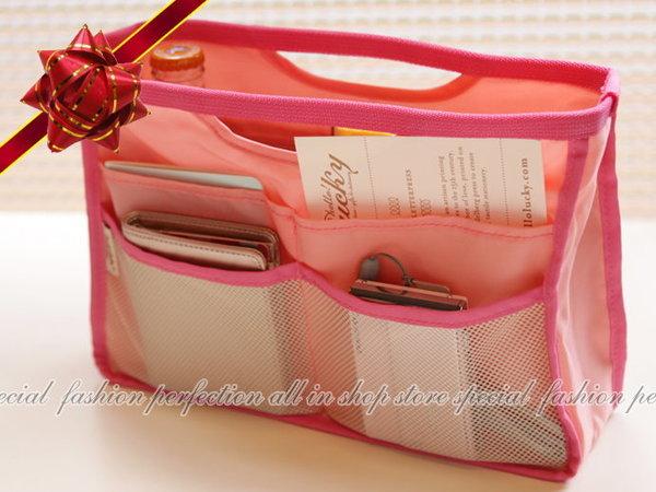 韓版『Secret糖果手提式網狀多功能收納包』 整理袋中袋 包中包 聰明收納袋【GC205】◎123便利屋◎