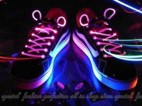 閃光鞋帶 LED高亮版 發光鞋帶 夜光鞋帶 附電池 螢光街舞鞋帶【GL355】◎123便利屋◎