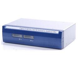 [良基電腦] HANWELL 捍衛科技 CM-102UA 2-Port 桌上型 PS/2 & USB 雙介面 KVM 電腦切換器 [天天3C]