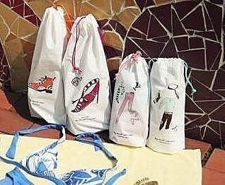 ♚MY COLOR♚韓國 旅行收納束口袋組合 防水防潮鞋袋 收納袋 一套2入 鞋子 衣物 【N05】