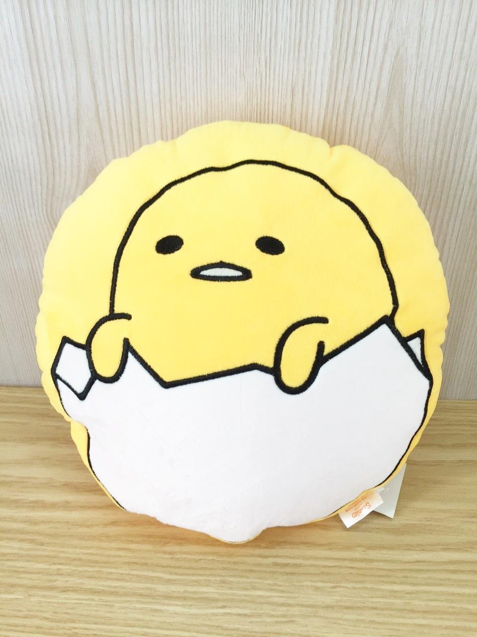 【真愛日本】15121700019 圓扁枕-蛋黃哥兩款 懶熊 抱枕 娃娃 靠枕 Gudetama 蛋黃哥