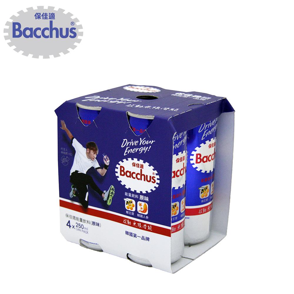 【Bacchus保佳適】韓國第一能量飲料-原味4入組