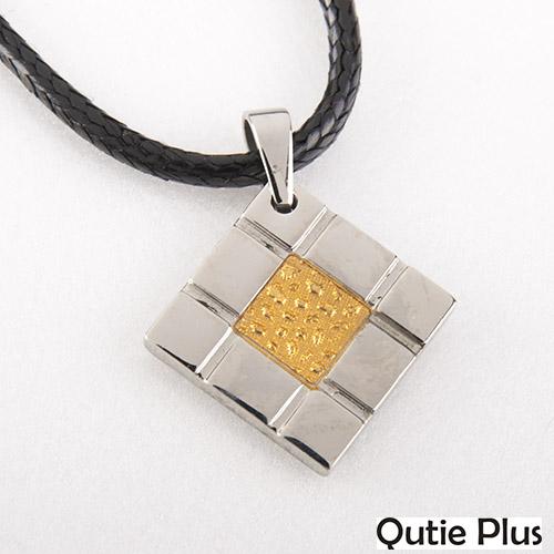 【嚴購網】Qutie plus幾何黃金項鏈