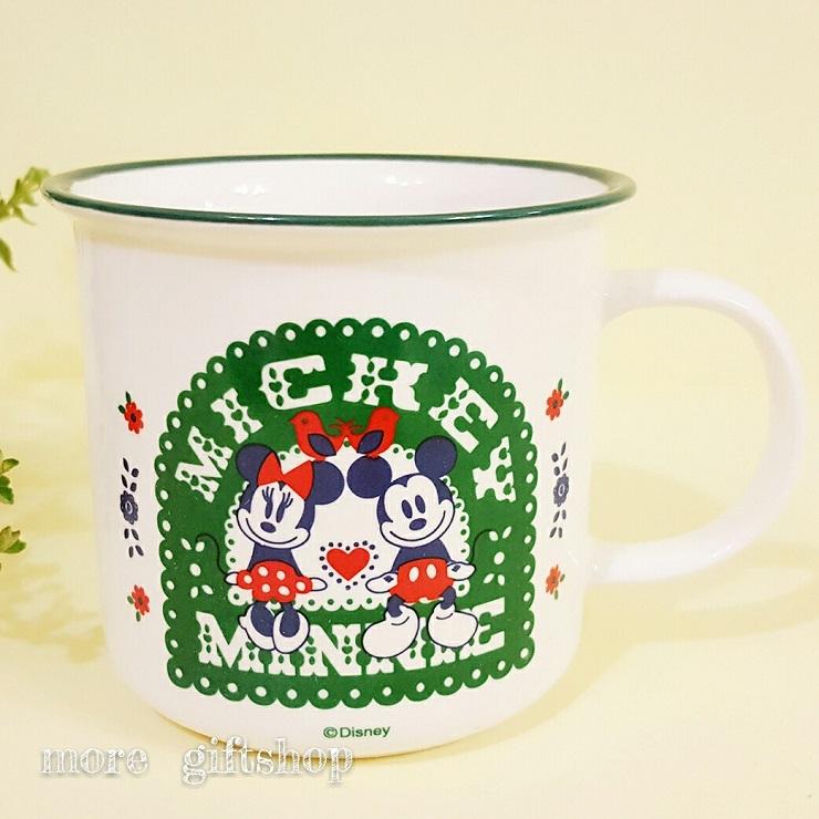 【more 禮品小舖】鄉村米奇米妮仿搪瓷杯 米奇米妮杯子 馬克杯  牛奶杯 陶瓷杯