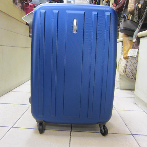 ~雪黛屋~EMINENT 27吋旅行箱MIT製品質保證PC防水防刮超輕量硬殼箱鋁合金拉桿KG28寶藍