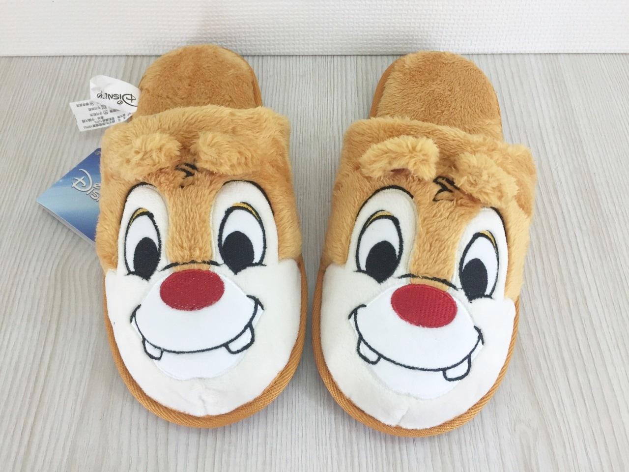 【真愛日本】151201000152D防滑絨毛室內拖鞋-蒂蒂  迪士尼 花栗鼠 奇奇蒂蒂 松鼠  拖鞋  鞋子  室內
