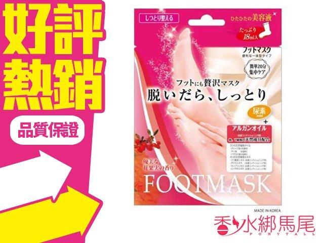 日本 Lucky 美容液 滋潤修護 足膜 1 回份◐香水綁馬尾◐
