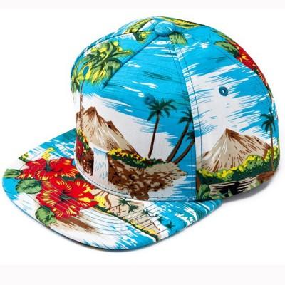►法西歐_桃園◄ HATer Snapback HAWAII PRINT 夏威夷 滿版 扶桑花 椰子樹 排扣 棒球帽