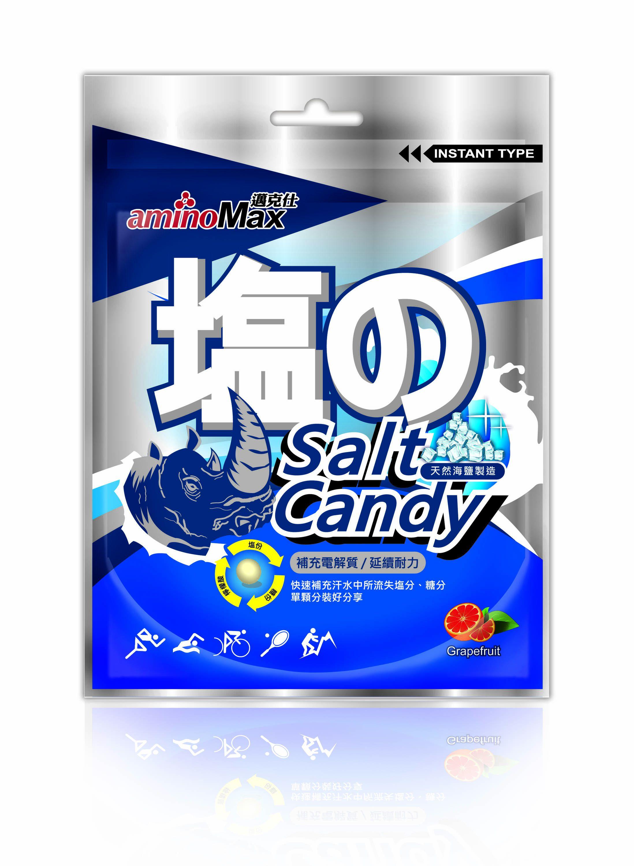 MAX 邁克仕 海鹽軟糖 b群配方、天然海鹽、富含礦物質,葡萄柚薄荷清香,每包15顆