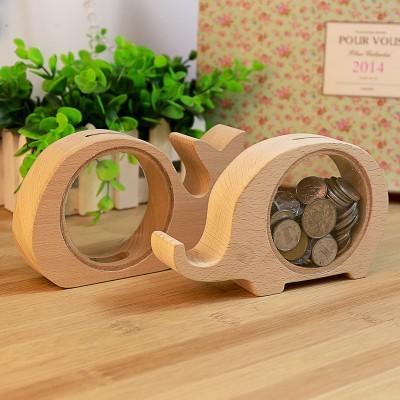 透明原木動物造型存錢筒(款式隨機出貨)