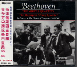 BRIDGE 布達佩斯四重奏團(The Budapest String Quartet))/貝多芬中期弦樂四重奏(Beethoven:The Middle Quartets)【3CDs】