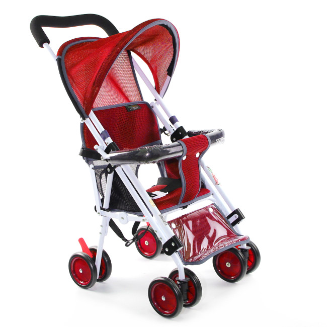 Yip baby 第二代可躺式機車椅推車 - 紅