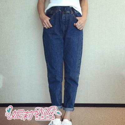 Nillie‧休閒帥氣寬鬆哈倫牛仔褲(灰/藍) 10/13 SPORT FASHION【N88030】現+預