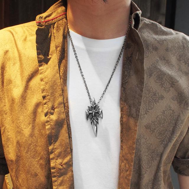 【海外訂購】【Bloody Mary】吸血鬼十字荊棘純銀項鍊 60cm (BMP0086  0010100000)