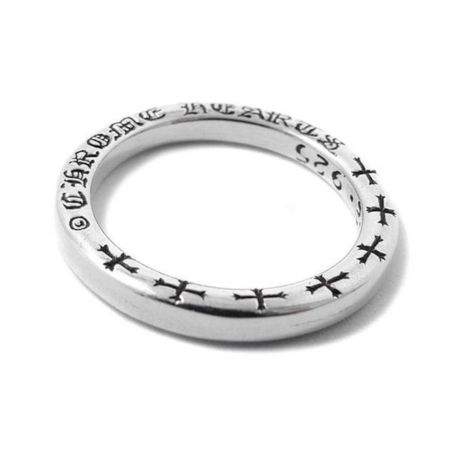 【海外訂購】【Chrome Hearts】NTFL 素面刻字純銀戒指(CHR-039)