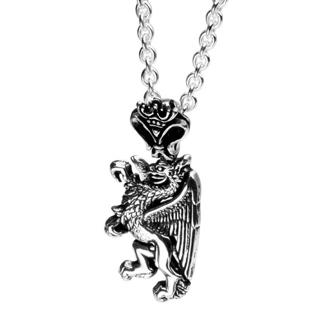 【現貨商品】【Leathers&Treasures】獅鷲純銀項鍊(LTP109  0546950000)