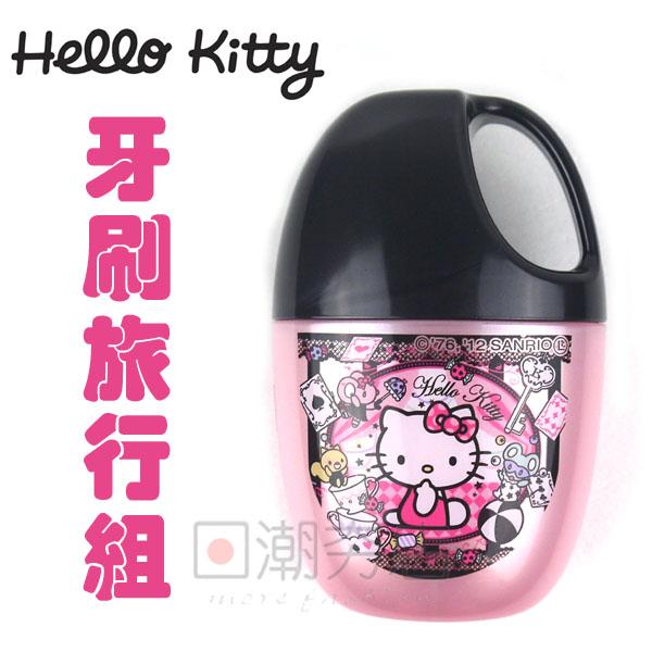 [日潮夯店] 日本正版進口_Hello Kitty凱蒂貓  牙刷旅行組