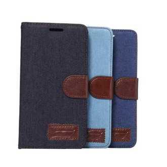 索尼Sony Xperia C4 保護套 牛仔布紋支架插卡皮套 c4 側翻手機保護殼【預購】