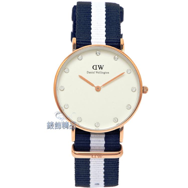 【錶飾精品】現貨 瑞典DW手錶Daniel Wellington 0953DW 玫瑰金Glasgow 34mm尼龍 帆布女錶 全新原廠正品 生日 情人節 聖誕 禮物 禮品