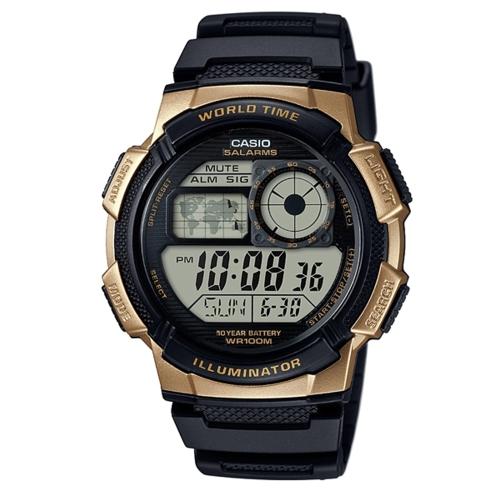 CASIO 10年電力/橡膠運動錶/AE-1000W-1A3