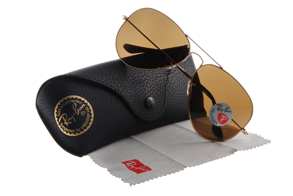 Ray Ban 雷朋 金邊茶色偏光 RB3025 太陽眼鏡