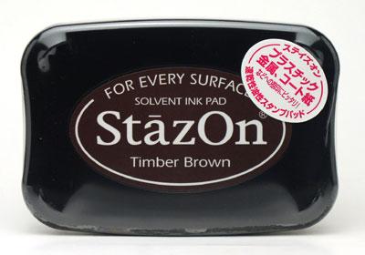 *小徑文化*日本手作雜貨 Staz On 油性速乾性印台(Timber Brown )SZ-41
