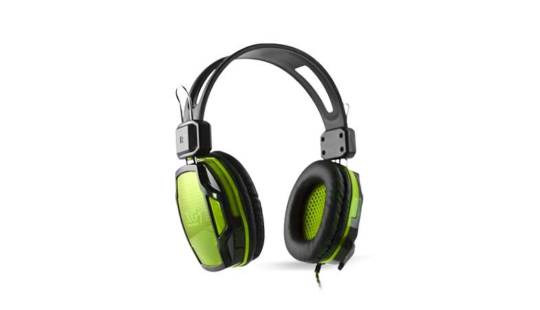 樂點生活●laclick XG7-專業電競耳機麥克風-綠 MOE220-1