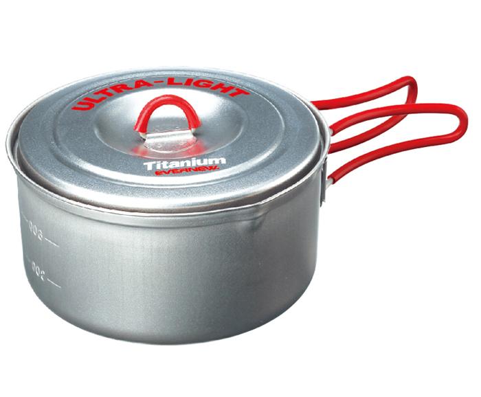 Evernew |日本| 超輕量鈦金鍋(M)/鈦合金鍋具 鈦鍋/EN-CA252N100 【容量900ml】