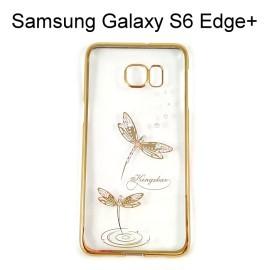 施華洛世奇電鍍邊框透明殼 [蜻蜓] Samsung G9287 Galaxy S6 Edge Plus