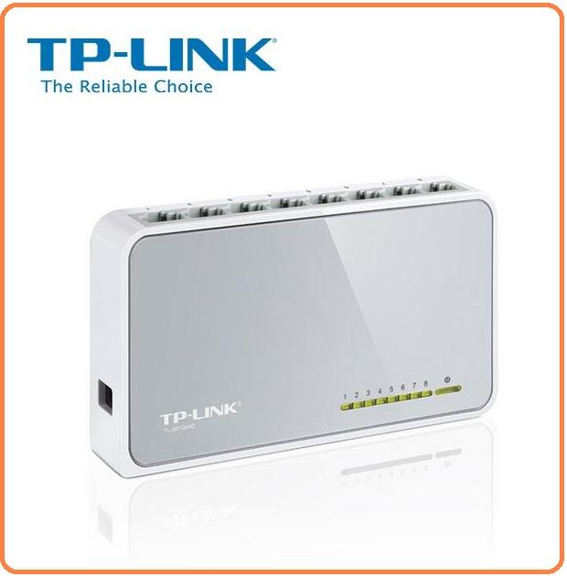 TP-LINK TL-SF1008D 10/100 Switch 8ports 塑膠殼