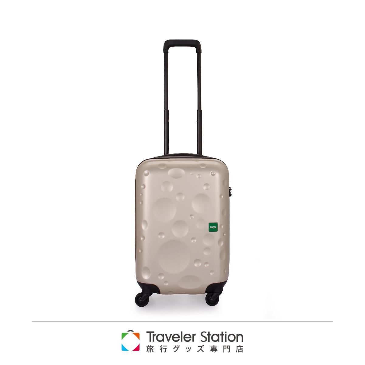 【日本 LOJEL】LUNA輕量 19吋 PC 香檳色 拉鍊拉桿(360度靜音輪 行李箱 / 旅行箱)