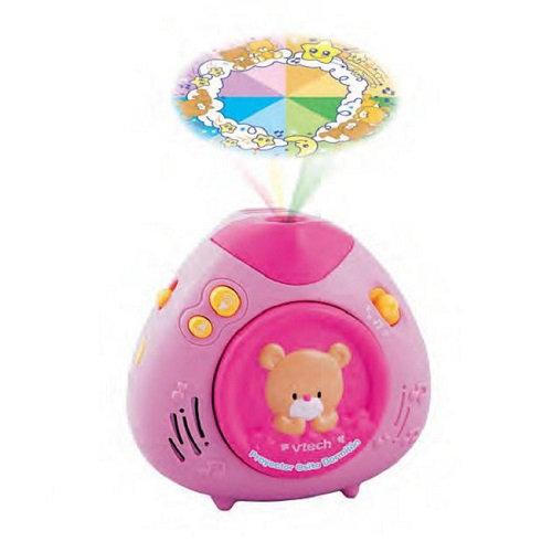 【週年慶特價66折】美國【Vtech】寶貝熊床邊音樂投射機(粉紅)
